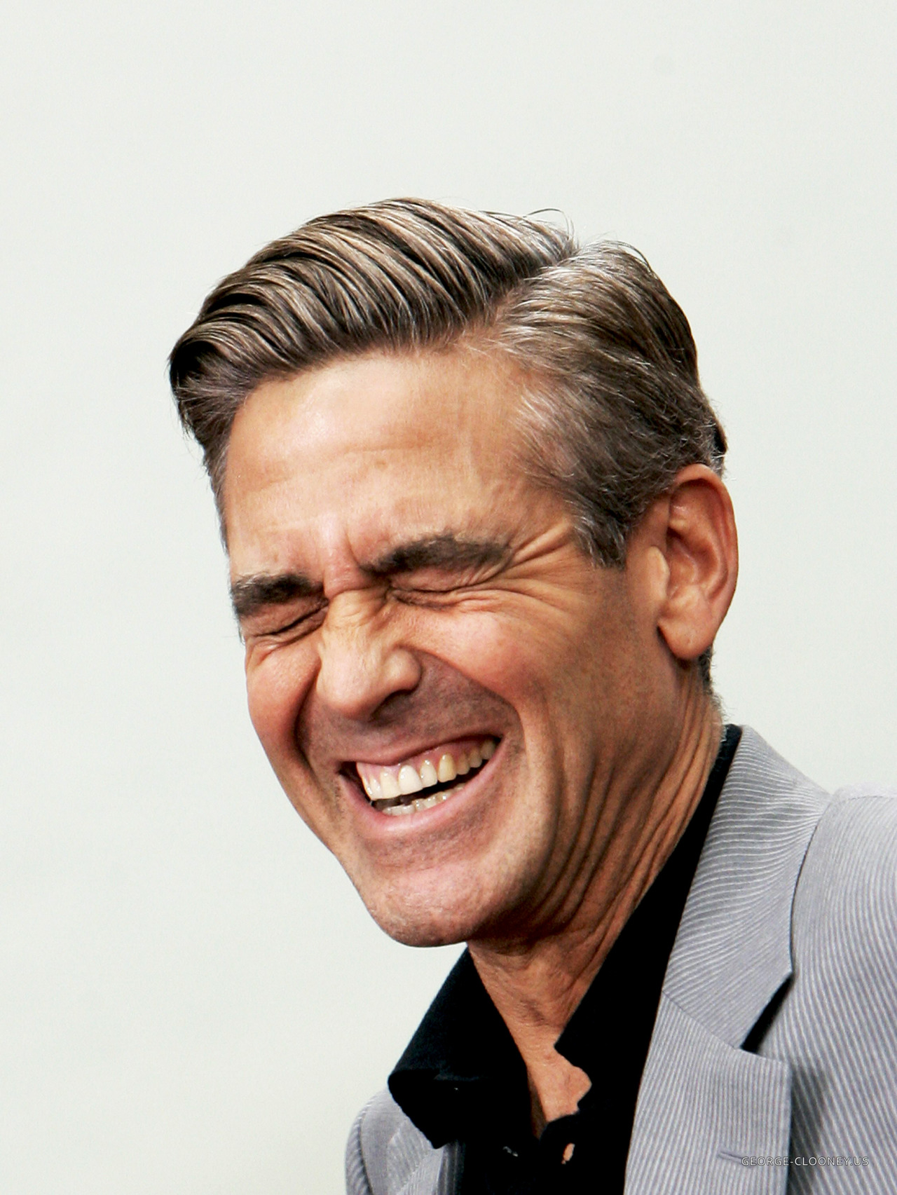 Clooney has a laugh / Source: Lean / Luxe