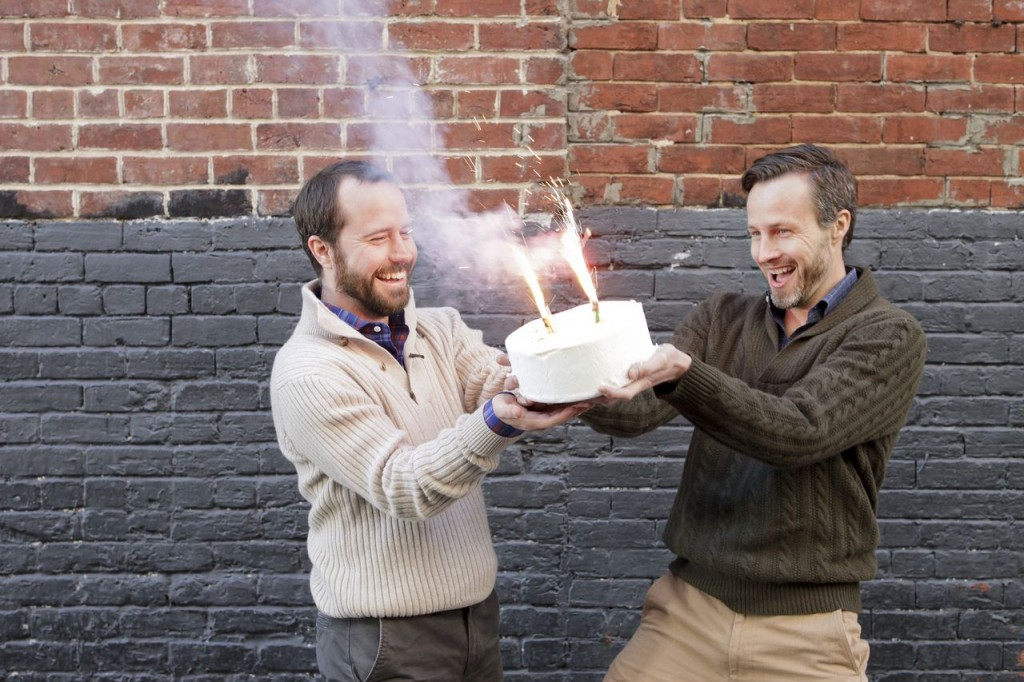 Ledbury founders, Paul Watson and Paul Trible celebrate winning at e-commerce. | Photo credit: Ledbury