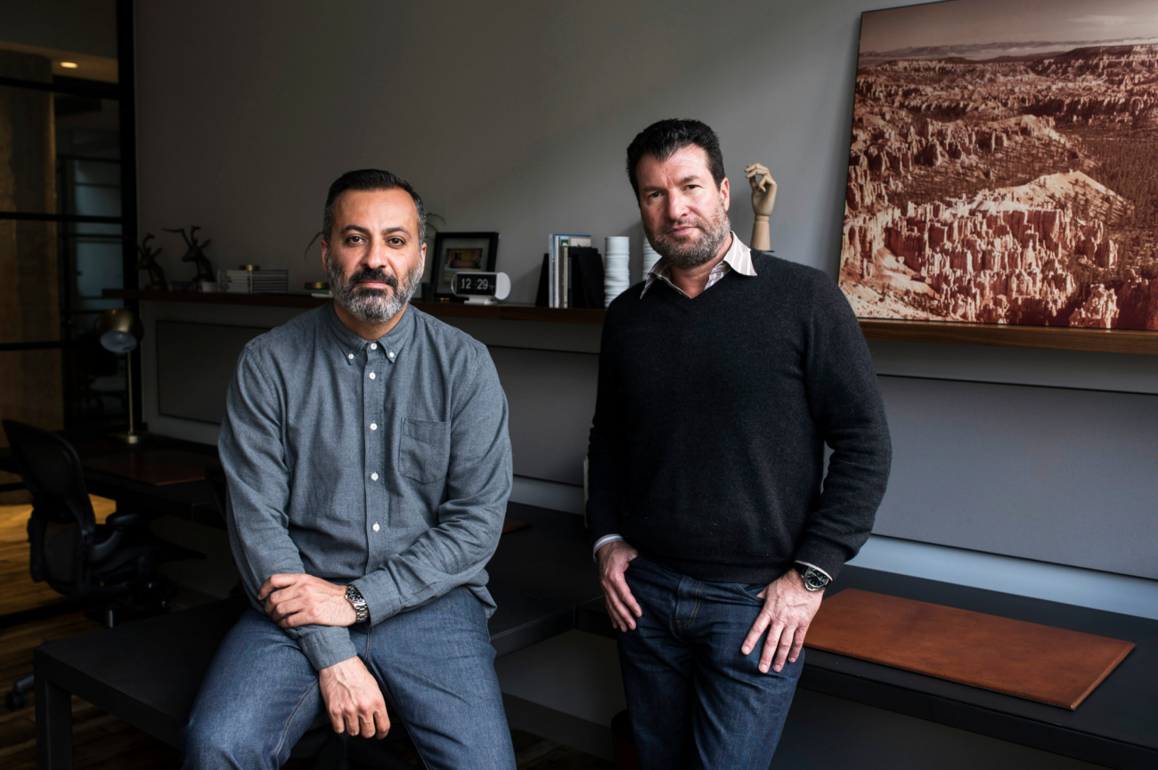 Camp David's co-founders, Mazdack Rassi, left, and Erez Shternlicht | NYT