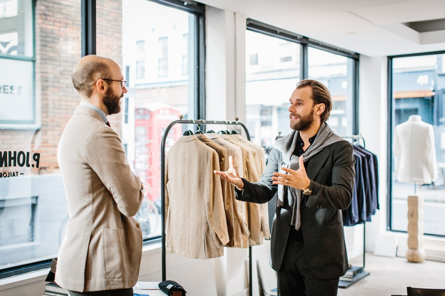 Patrick Johnson of Sydney-based P. Johnson Tailors on the right | Permanent Style