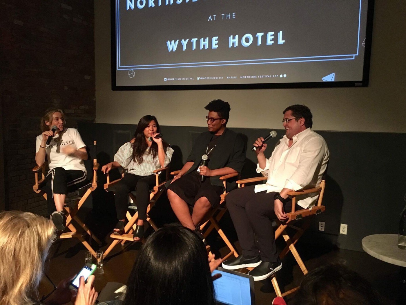 Ana Andjelic, Jen Rubio, Jessica Graves, and Colin Nagy; Northside Festival panel | Colin Nagy